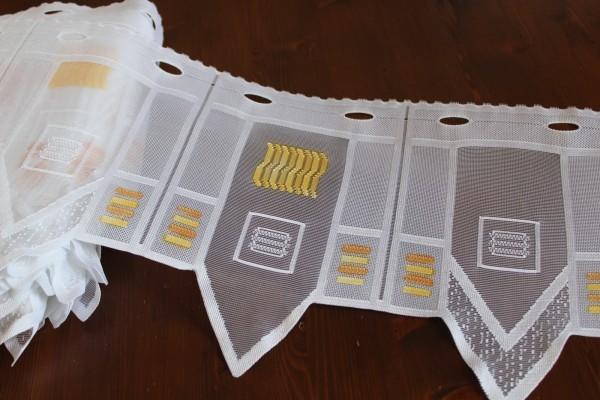 Bistrogardine modernes Muster gezackt Gardine H 28 cm