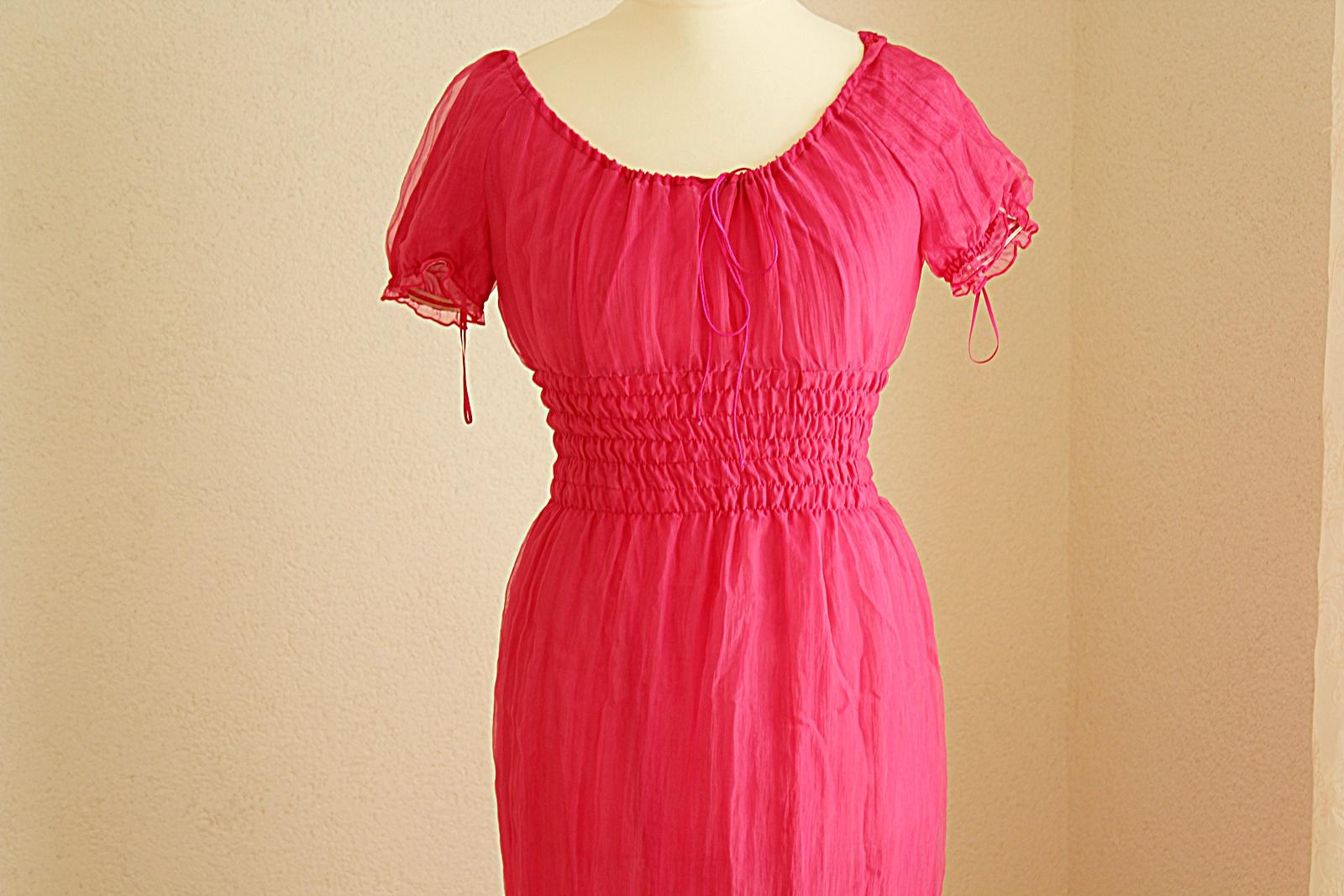 rosa Kleid im Empire Stil Gr 19 Kostüm Mottoparty
