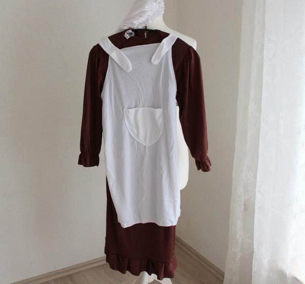 Kleid Dienstmädchen Kostüm Kinder Gr. 140