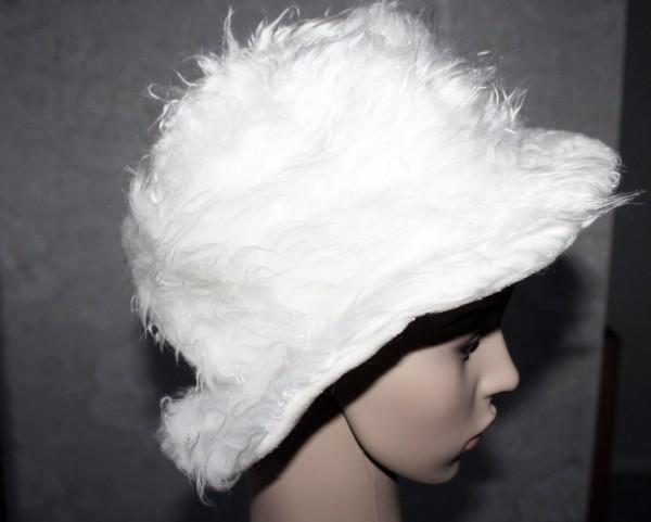 großer weißer Wuschel Hut Kostüm Zubehör