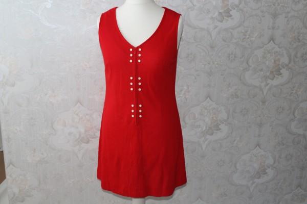 rotes Shirtkleid Kleid Gr. S bis M
