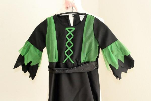 Kleid Hexe Kinder Kostüm mit Hexennase Mädchen Gr. 104