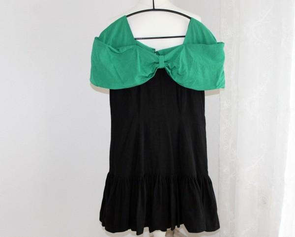 kurzes schwarzes Kleid Gr. S-M 80er Jahre Mottoparty
