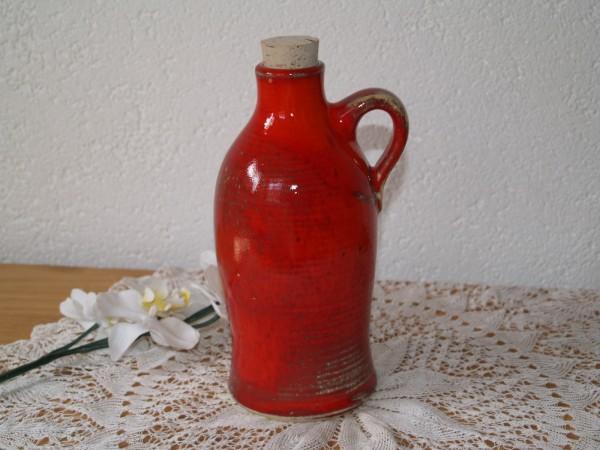 Flasche getöpfert rote Keramik für Essig Öl Deko Handarbeit