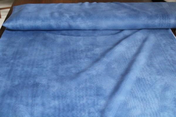 hellblauer transparenter Dekostoff Gardinen Stoff marmoriert