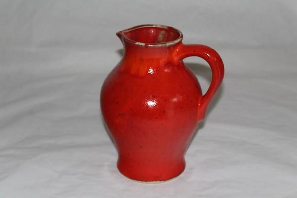 großer roter Saftkrug Weinkrug 2l Keramik Krug getöpfert