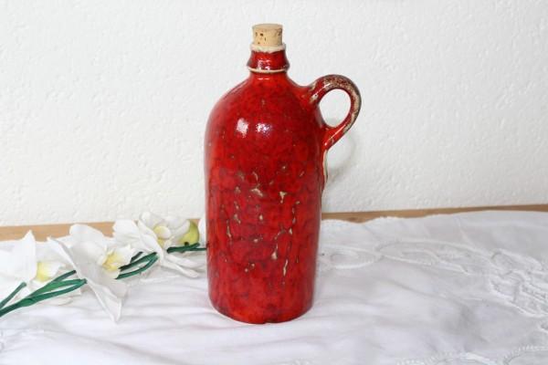 Flasche gerade getöpfert Keramik rot für Essig Öl