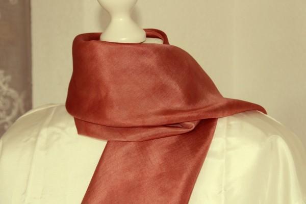 braunes Seidentuch Tuch aus Seide 90 x 90 Handarbeit