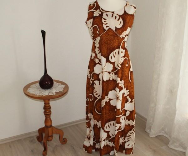Kleid im 70er Jahre Stil Gr. M lang große Muster