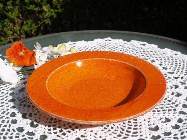 Suppenteller orangeTeller aus Keramik Töpferware