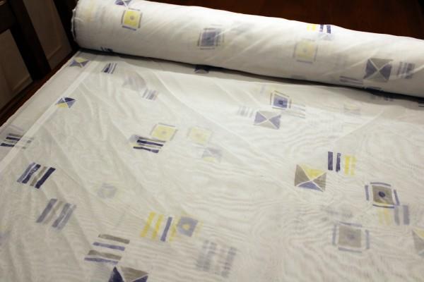 Voile Gardinen Stoff bedruckt Rest 2,30 x 1,30 m
