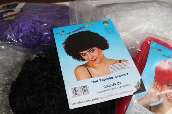 Hair Perücke Wuschelkopf in vielen Farben Damen Karneval