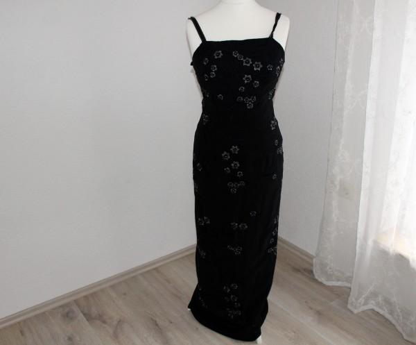 langes schwarzes Kleid Gr 38 Abendkleid Kostüm
