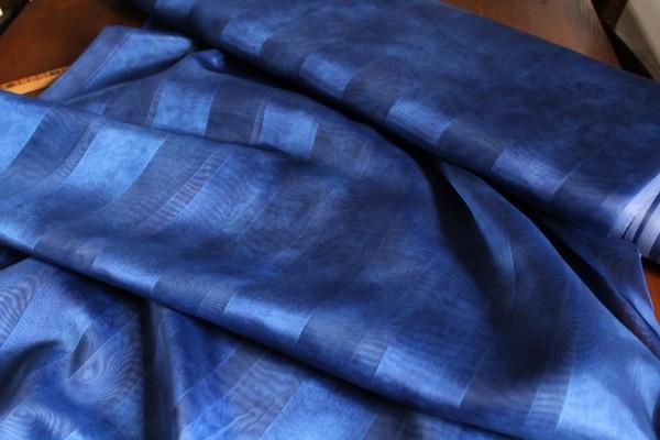 Dekostoff blau Vorhangstoff Gardinen Stoff transparent