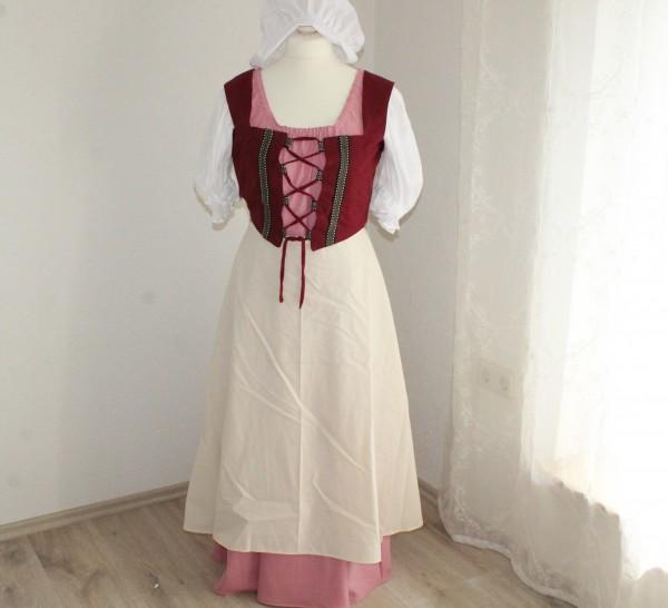 Damen Kostüm Magd Gr 38 komplett Mittelalter Einzelstück genäht