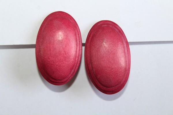 Rosa Ohrclips oval Ohrringe Retro Stil Modeschmuck
