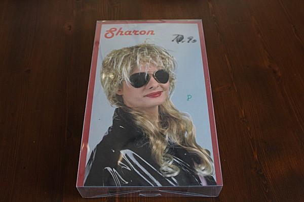 Perücke Sharon blond rockiges Kostüm