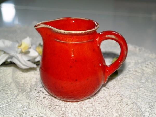 Milchkännchen Sahnekännchen Kännchen Keramik rot