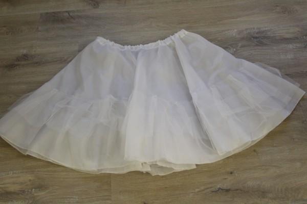 weißer Petticoat Gr S zweistufig genäht Handarbeit