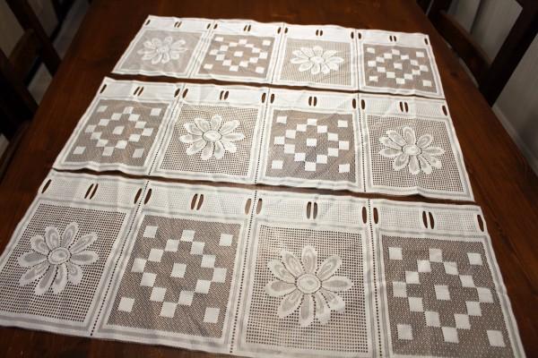 Bistrogardine 3 Reststücke 60 x 23 cm Gardine im Set