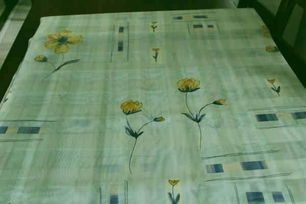 Voile Gardinenstoff pastell mit Blumen Stoff Dekostoff