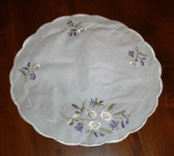 Deckchen romantisch bestickt Vintage