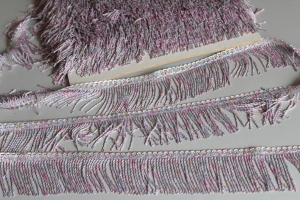Fransenborte rosa meliert 5 cm breite Borte
