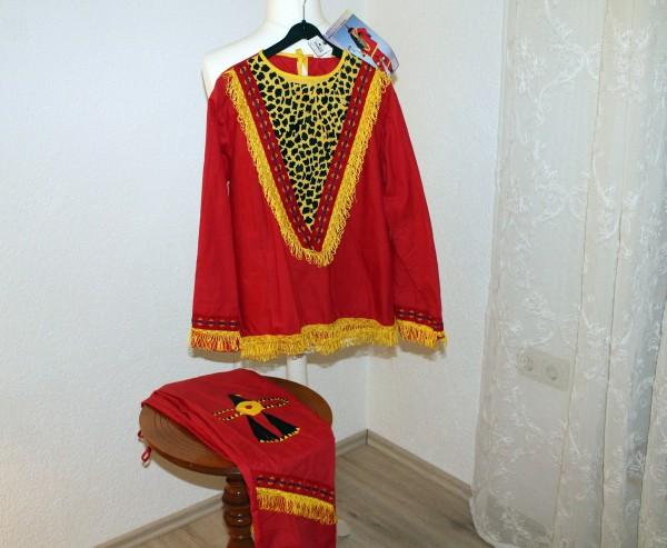 Roter Indianer Anzug für Jungen Gr. 140 Kostüm Karneval