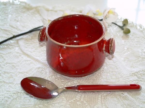 Suppentasse Tasse Teller rote Keramik