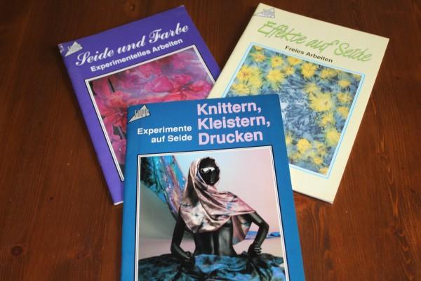 Drei Hefte zum Thema Seidenmalerei Anleitungen