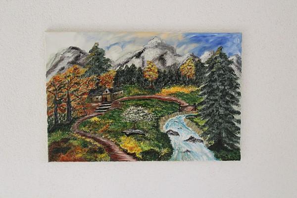Landschaftsbild Berglandschaft 60 x 40 Acryl auf Leinwand