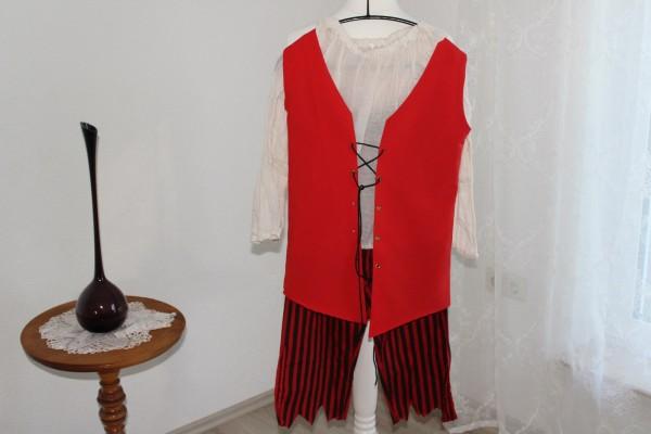 Kostüm Piratin Gr. 36 38 3 Teile Hose Weste Bluse