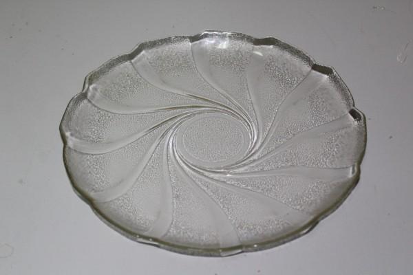 Teller als Anbietteller Glasteller Retro Vintage