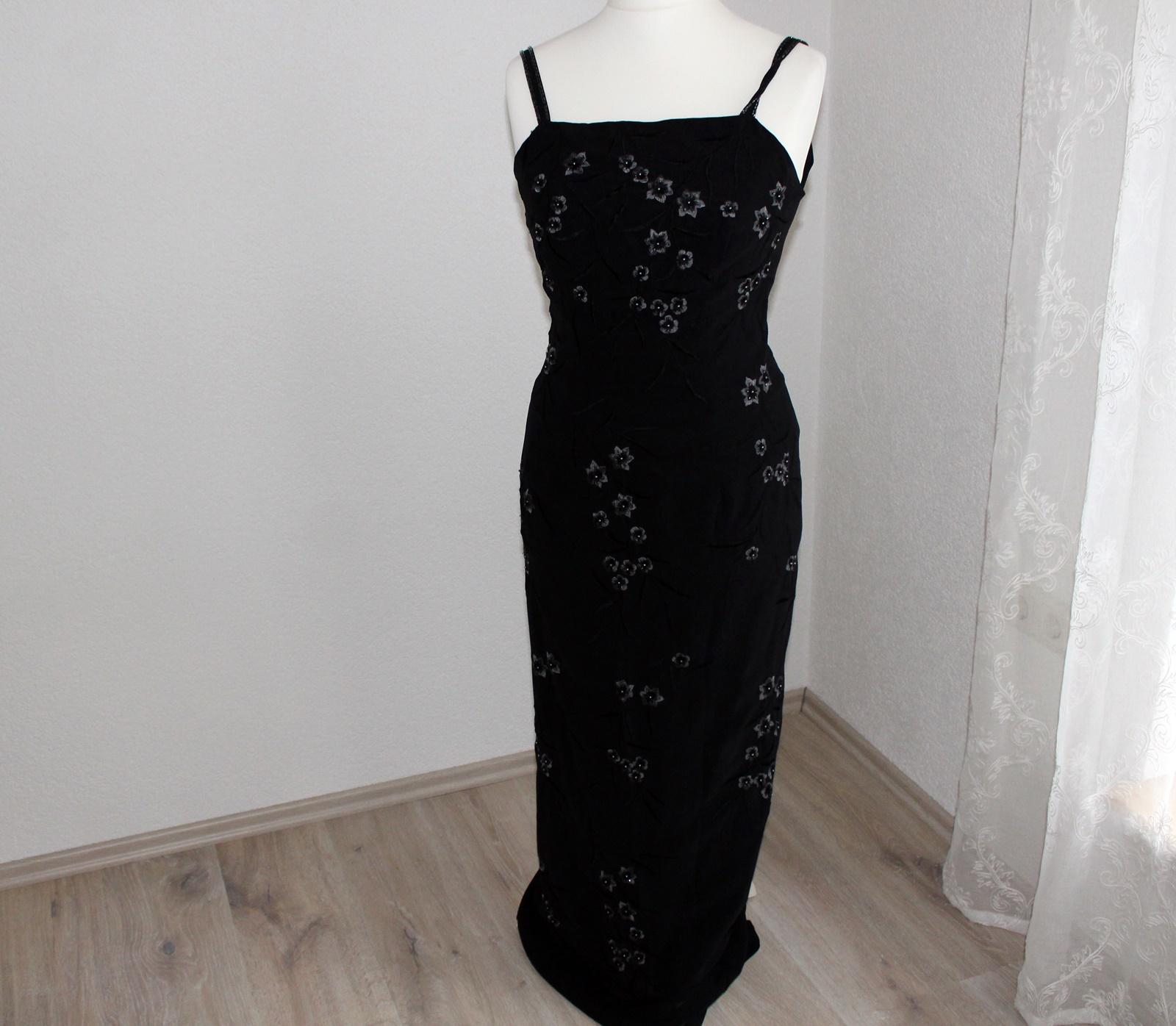 langes schwarzes Kleid Gr 19 Abendkleid Kostüm