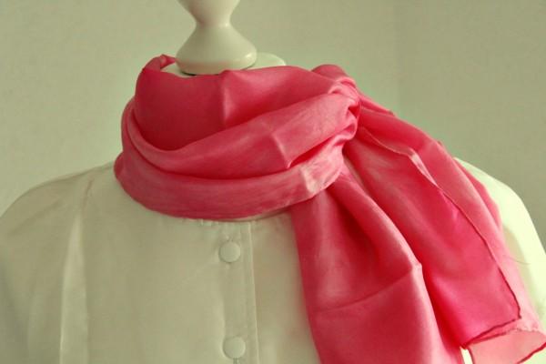 rosa Tuch oder Schal aus Seide viele Größen