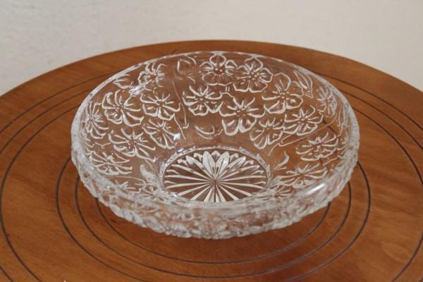 Glasschale Servierschale Anbietteller Vintage