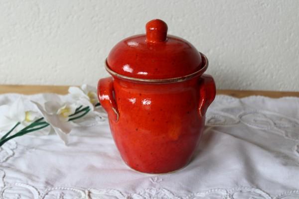 Vorratstopf Tontopf rote Keramik getöpfert