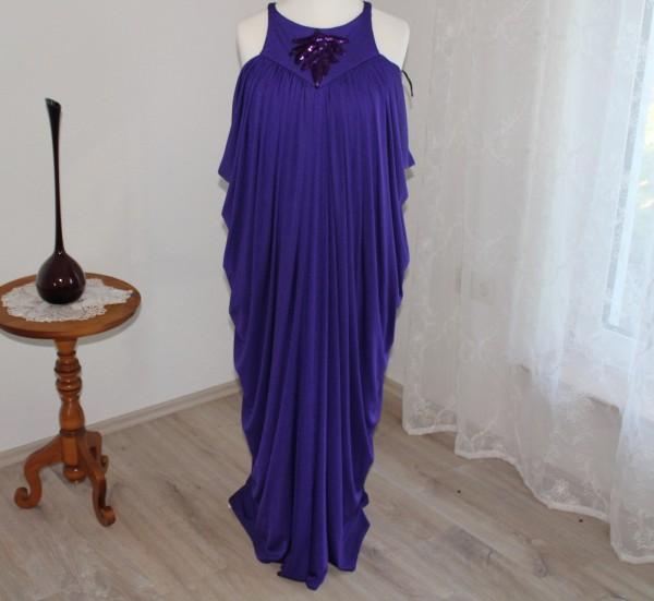 lila langes Kleid Gr 40 Vintage