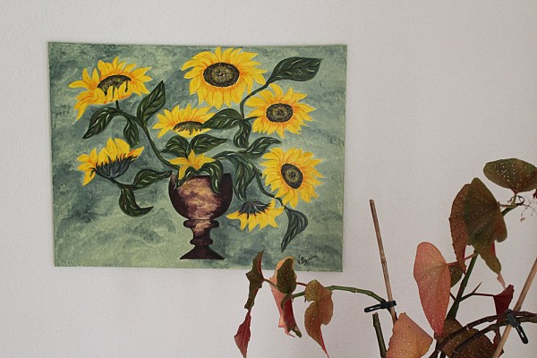Sonnenblumen Bild 75 x 60 cm handgemaltes Einzelstück