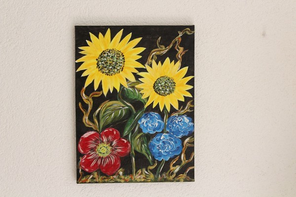 Bild Sommerblumen 30 x 40 Gemälde mit Blumen