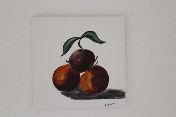 Küchenbild Pflaumen 30 x 30 handgemaltes Bild