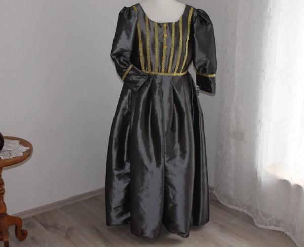 Kleid Barock Silbergrau Kostüm Karneval Theater