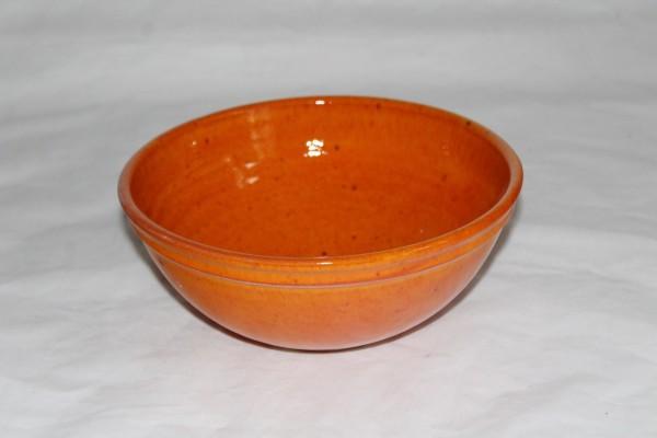 mittlere Salatschale orange Schüssel Keramik getöpfert