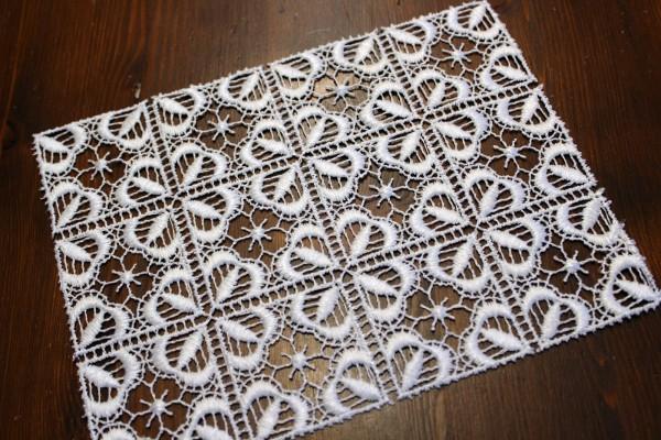 Deckchen aus Spitze 17 x 22 cm Zierdeckchen