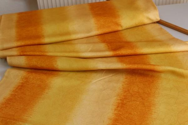 Dekostoff gelb orange Vorhang Stoff 1,40 m breit Meterware