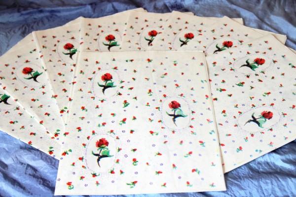 Geschenkpapier Rosen 10 Bogen original DDR
