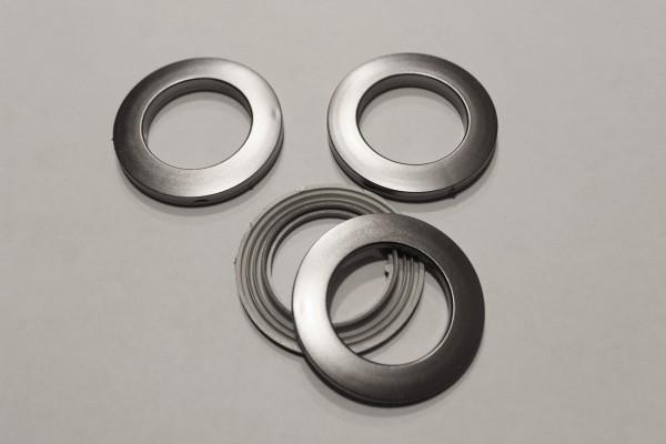 Gardinenösen Stahl Optik Ösen Ringe Kunstoffringe für Gardinen