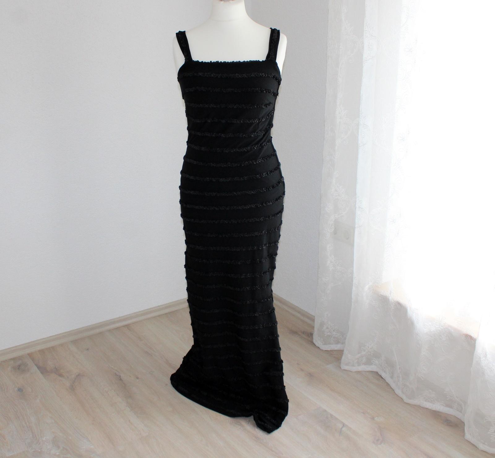 schwarzes Kleid lang Gr 10 u. 10 Abendkleid Kostüm