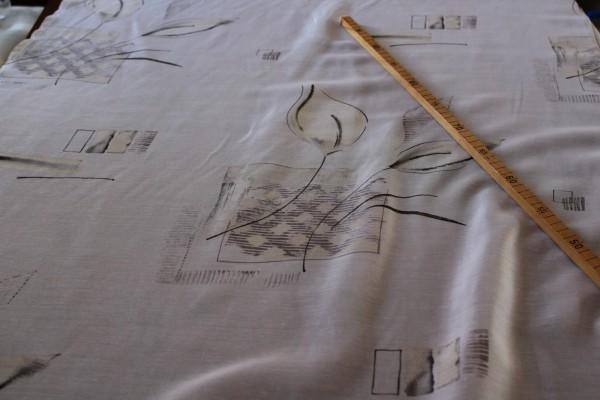 weißer Dekostoff mit modernem Muster Vorhang Gardinen