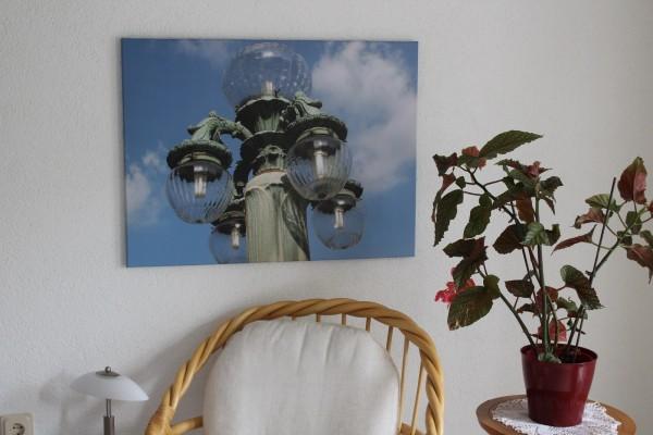 Bild Laterne 80 x 60 Foto auf Leinwand Wandbild